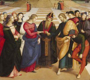 Sposalizio della Vergine (part.) - Raffaello
