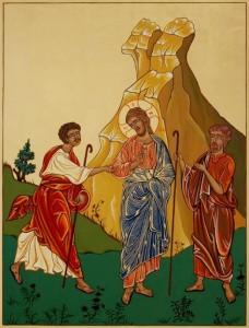 04 Gesù risorto in cammino con i discepoli di Emmaus