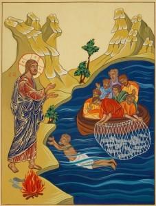 09 Gesù risorto appare agli apostoli presso il lago di Tiberiade