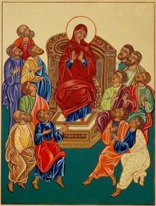 13 Gli apostoli con Maria attendono lo Spirito Santo