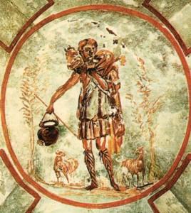 Buon Pastore, Catacombe di San Callisto, Roma